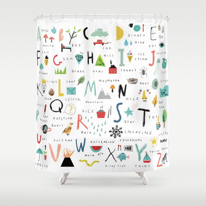 ABC Shower Curtain By Imagenaction