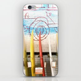 Bali surfboards iPhone Skin