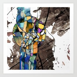 my world in contrasts Art Print