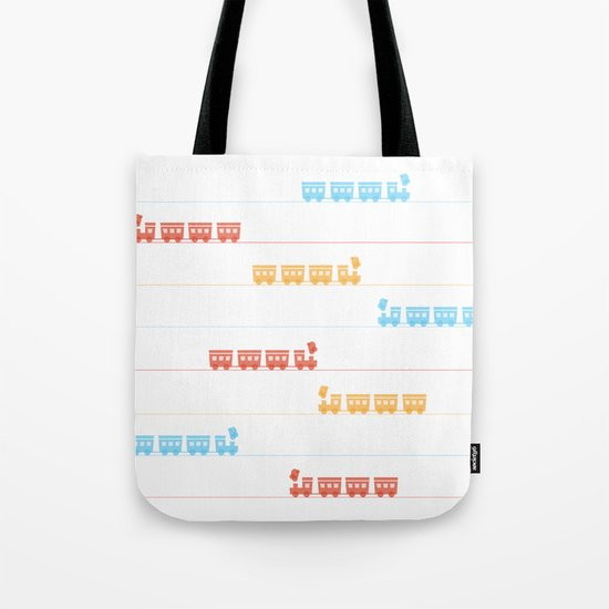 The Essential Patterns of Childhood - Train Tote Bag