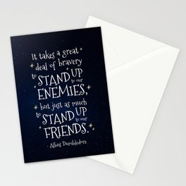 STAND UP TO OUR FRIENDS - HP1 DUMBLEDORE QUOTE Stationery Cards