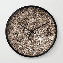 Grass Camo Wall Clock