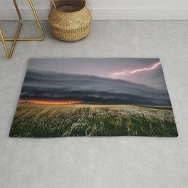 Steamroller - Storm Spans the Kansas Horizon Rug