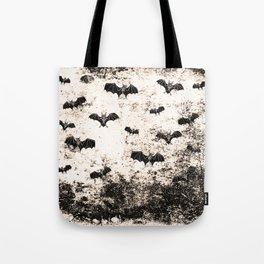 Vintage Halloween Bat pattern Tote Bag