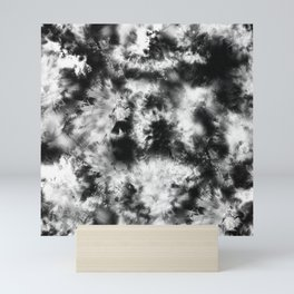 Black and White Tie Dye & Batik Mini Art Print