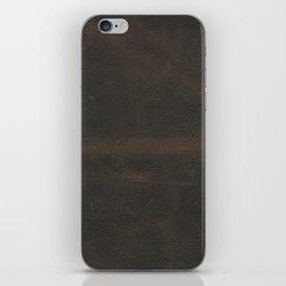 Vintage leather texture iPhone Skin
