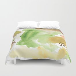 Fall Morning Abstract Duvet Cover