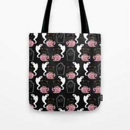 Grave Kitten Tote Bag