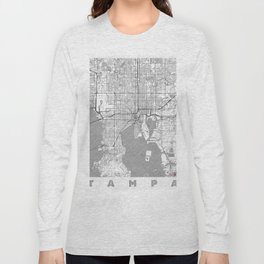 Tampa Map Line Long Sleeve T-shirt