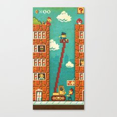 Super Mario - Mushroom Recession Canvas Print