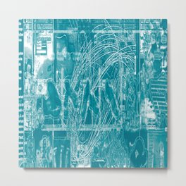 Life Only Makes Sense In Certain Fictions [Now In Duotone - Teal] Metal Print