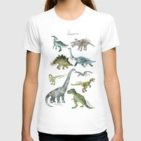 dinosaurs T-shirts featuring Dinosaurs by Amy Hamilton