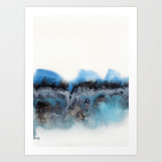 Watercolor abstract landscape 11 Art Print