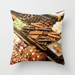 Chocolate Heaven, Barcelona Throw Pillow