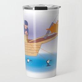 Japanese Cormorant fishing Travel Mug