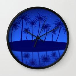 Blue Island Starry Sky Wall Clock