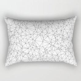 DELAUNAY TRIANGULATION w/b Rectangular Pillow