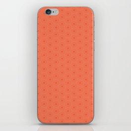 orange hexagonal pattern iPhone Skin