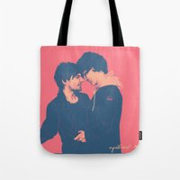cyrilliart Tote Bags featuring Larry #7 by Cyrilliart