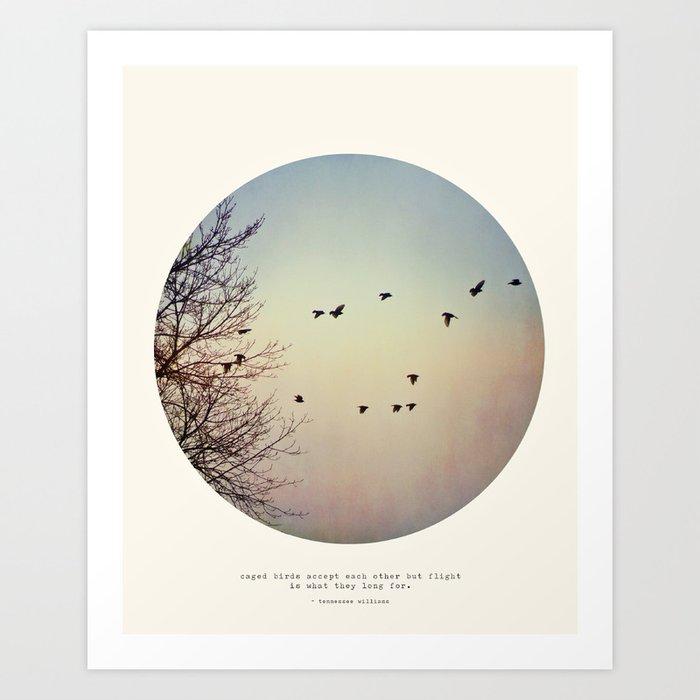 Caged Birds Art Print
