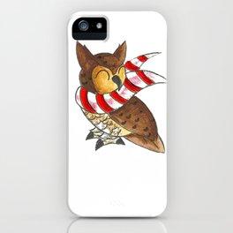 Cozy Christmas Owl iPhone Case