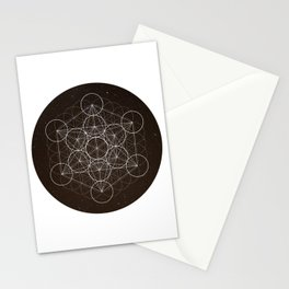 Metatrons Cube Is Out Of Space Stationery Cards