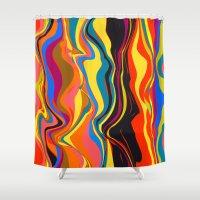 african Shower Curtains featuring African Heat by Matthias Hennig