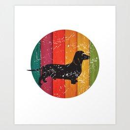 Vintage Retro Dachshund Weiner Dog for Mom or Dad Product Art Print