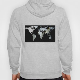 World Map Silhouette - Penguins Hoody