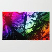 joker Area & Throw Rugs featuring joker by DeMoose_Art