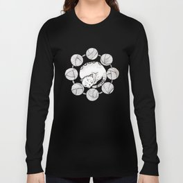 Turning into a white cat Long Sleeve T-shirt