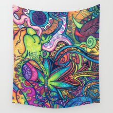 Colorful Weed TRIPPY Wall Tapestry