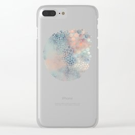 Dream Circles Charcoal Clear iPhone Case