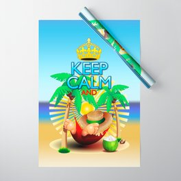 Keep Calm and...Relax on Hammock! Wrapping Paper