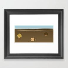 Coffee sea Framed Art Print