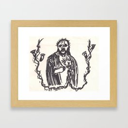 Jesus H Christ Framed Art Print