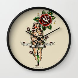 Stay Body Posi Wall Clock