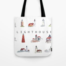 Collection of Lighthouses around the World Tote Bag