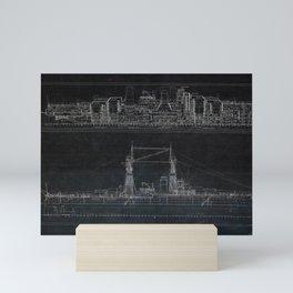 Vintage USS Oklahoma Blueprints Mini Art Print