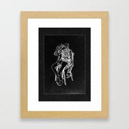 My Head Is Gone Framed Art Print
