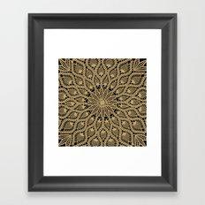 Delicate Golds Framed Art Print