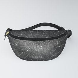 Constellation Star Map (B&W) Fanny Pack