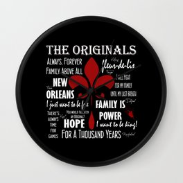 The Originals inspired art print (Black) Wall Clock