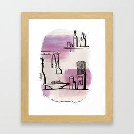Food ingredients Framed Art Print