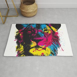 COLORED LION Rug