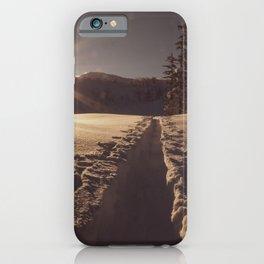 Sunrise Backcountry Ski // Skin Track to Snowy Paradise iPhone Case