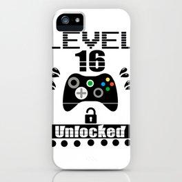 LEVEL 16 UNLOCKED iPhone Case
