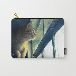 The cat watches outside Carry-All Pouch