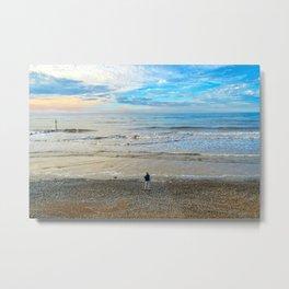 Cromer Beach at Sunset Metal Print