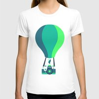 baloon T-shirts featuring Camera-baloon BLACK by GioDesign